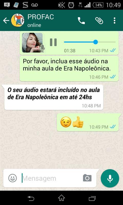Profac - Aula WhatsApp